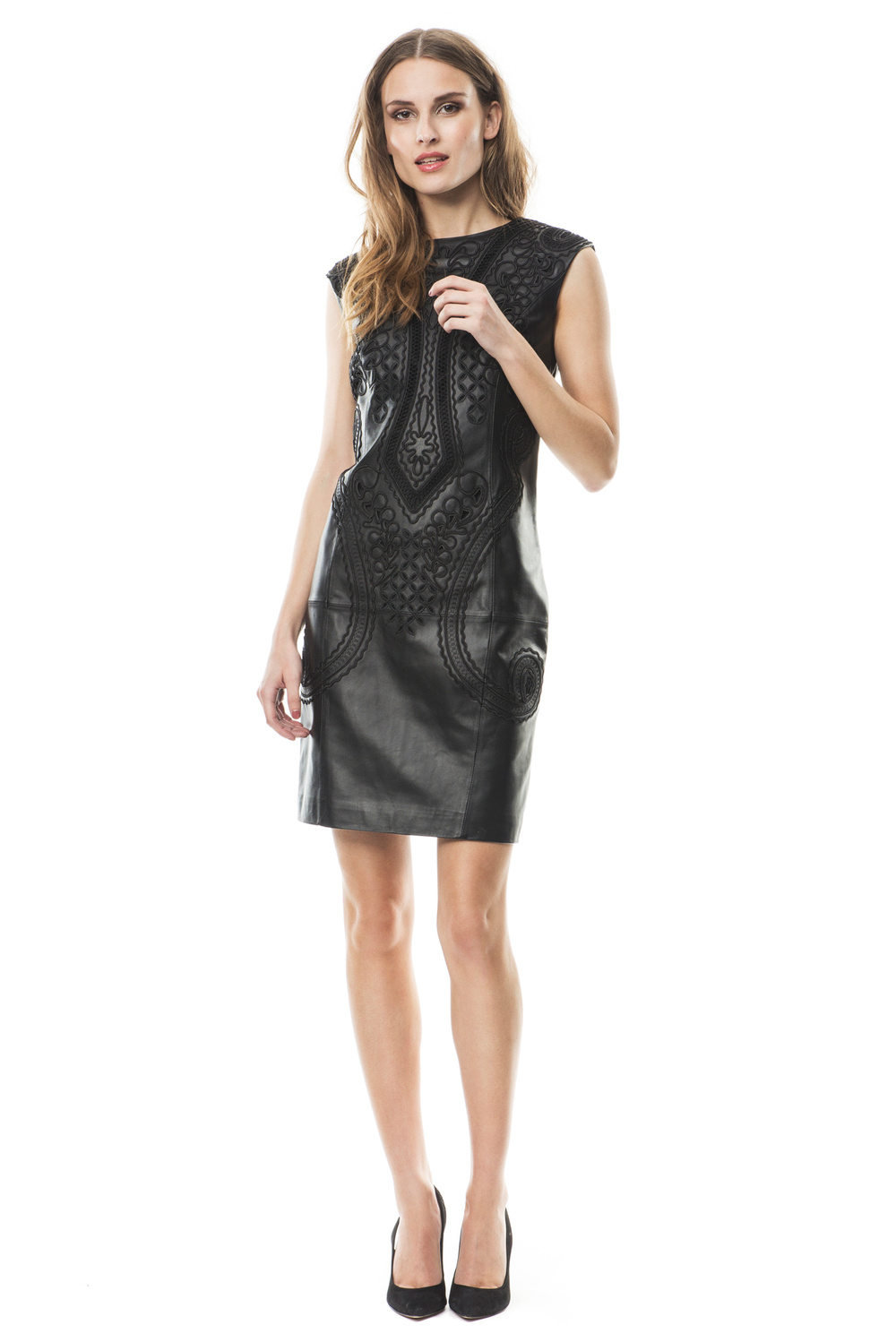 Henrietta leather dress