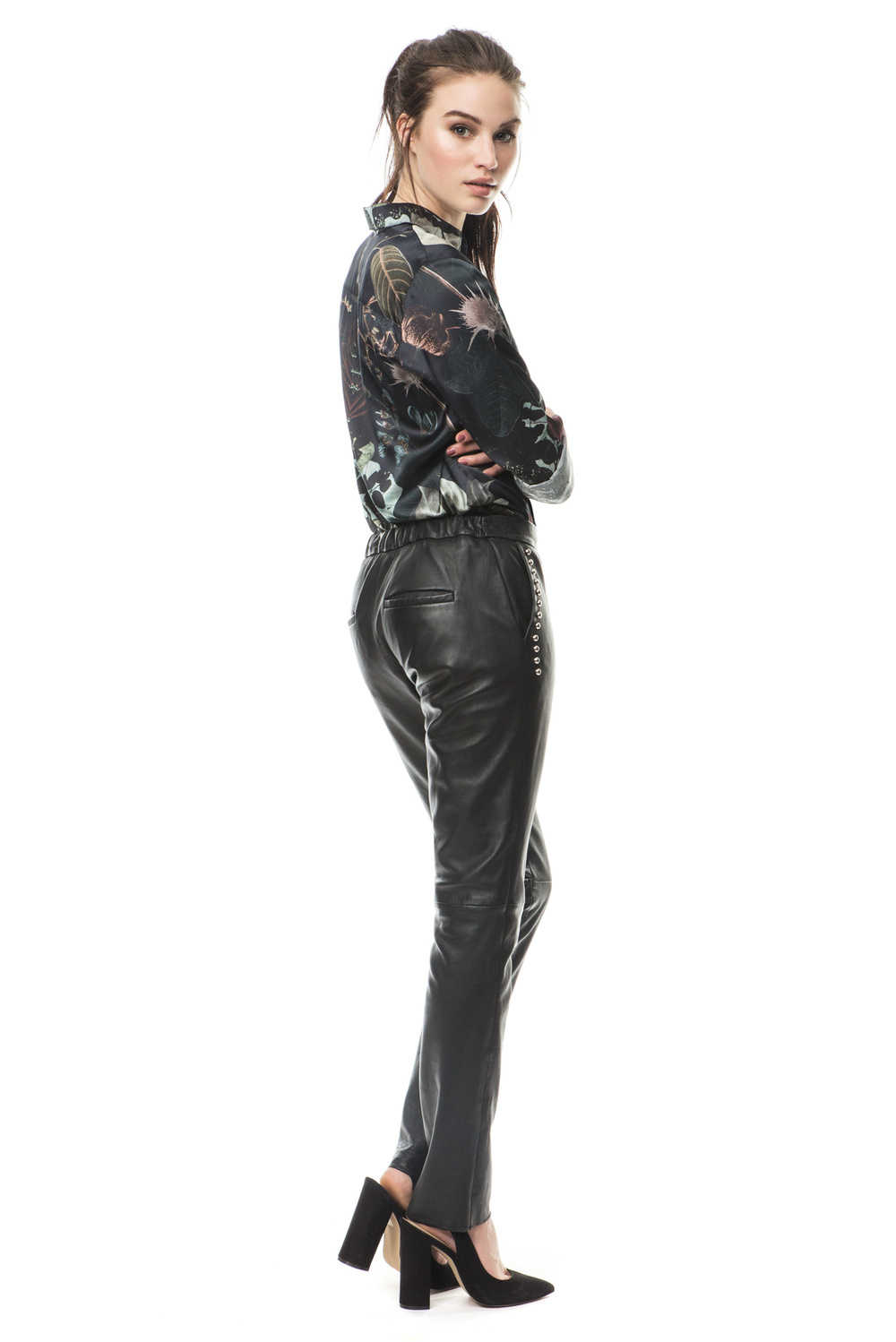 Product image Tone Studded Leather Pants