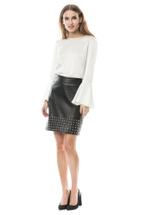 Product image Aya Studded Leather Skirt